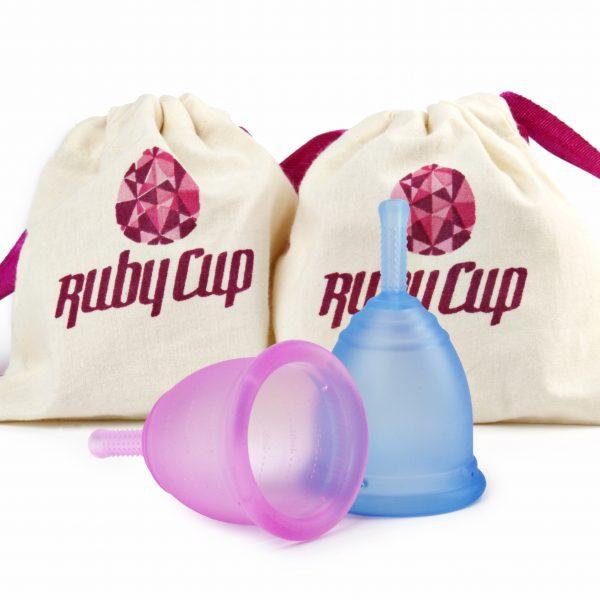 Ruby Cup compleet (duo pack), twee Ruby Cups samen voor een speciale prijs.