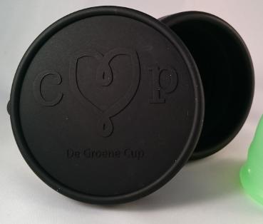 Voorzijde De Groene Cup magentronsterilisator