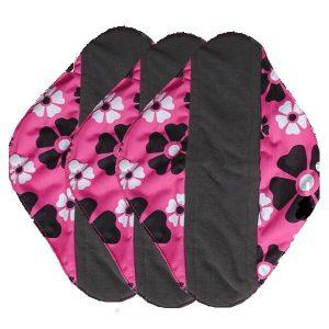 Alvababy wasbare maandverband - nacht - roze - 3 stuks
