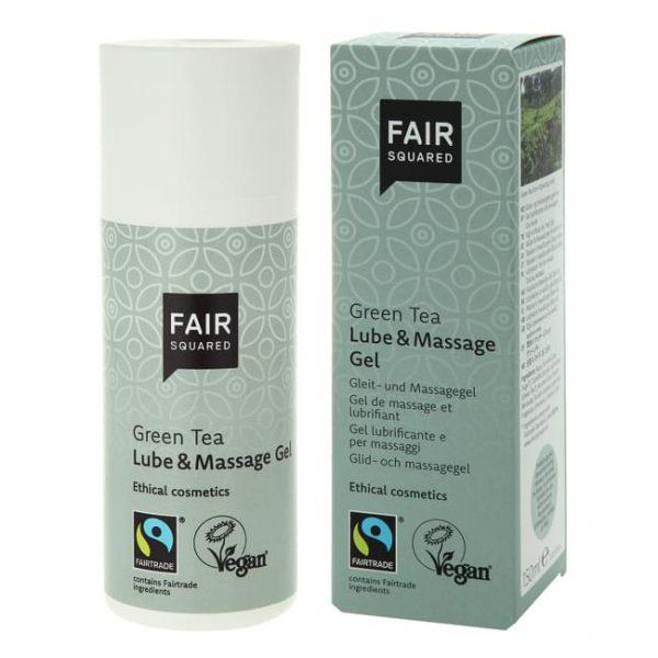 Fair Squared Lube & Massage Gel Green Tea 150ml - dispenser